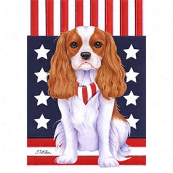 Cavalier King Charles Spaniel Patriotic Breed Flag
