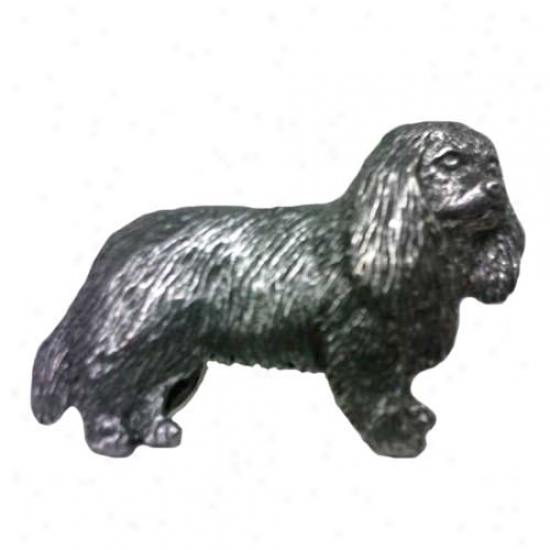 Cavalier King Charles Spaniel Pewter Pin