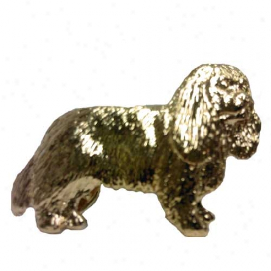 Cavalier King Charles Spaniel Pin 24k Gold Plated