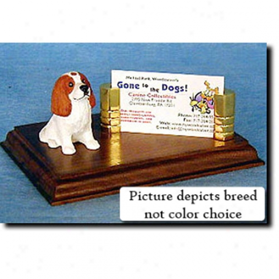 Cavalier King Charles Spaniel (tri) Business Card Holder
