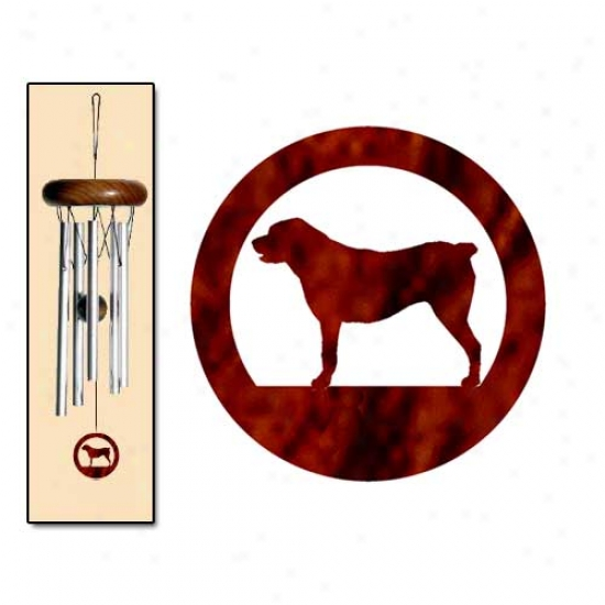 Central Asian Shepherd Dog Wind Chimes X-small Silver