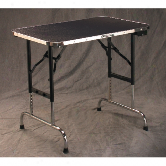 Champagne Grooming Table With Adjustable Legs - Black 36x24