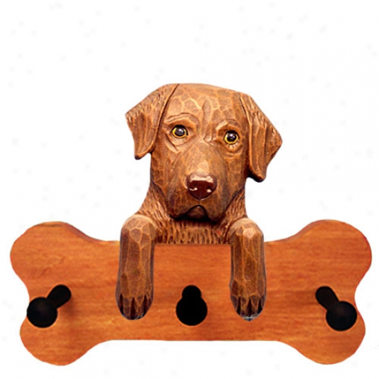 Chesapeake Bay Retriever Bone Hang Up Maple Finish