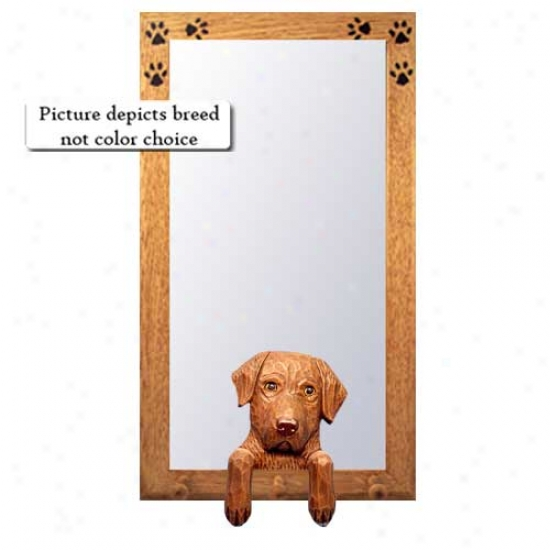Cehsapeake Bay Retriever Hall Mirror With Oak Natural Invent