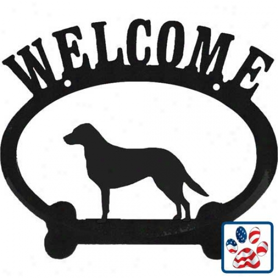 Chesapeake Bay Retriever Metal Welcome Sign