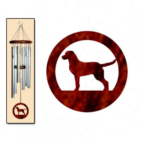 Chesapeake Bay Retriever Wind Chimes Medium Silver