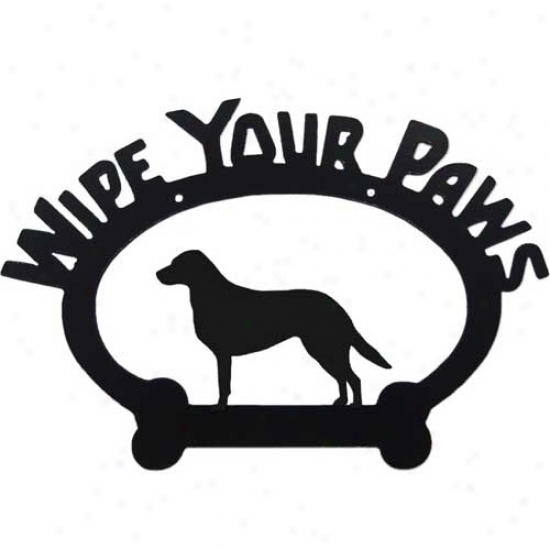 Chesapeake Bay Retriever Wipe Your Paws Decorative Sign