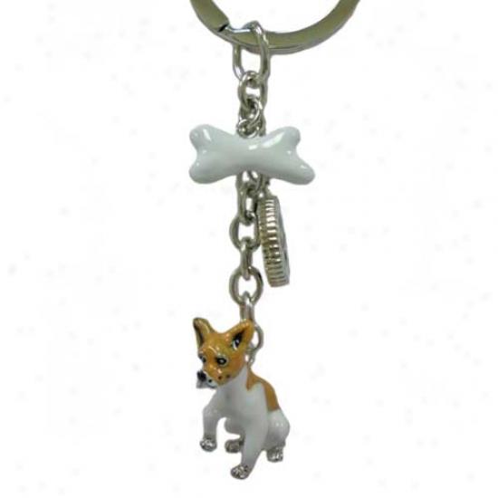 Chihuahua Enameled Keychain