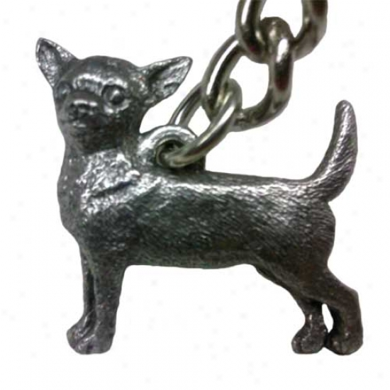 Chihuahua George Harris Pewter Keychain
