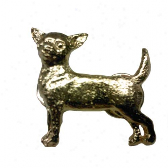Chihuahua Shut up 24k Gold Plated