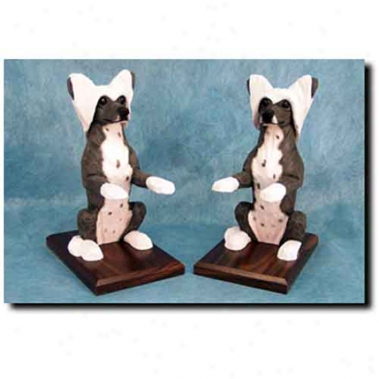 Chinese Cr3sted Bookends