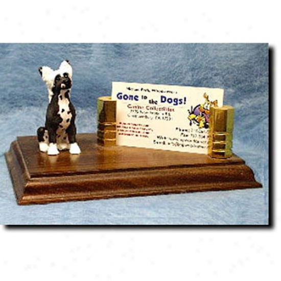 Chinese Crested Business Card Hplder