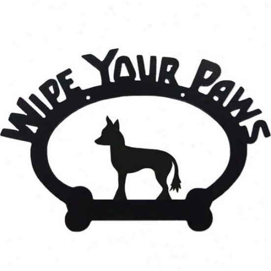 Chinese Crested Wipe Your Paws Decorative Sign