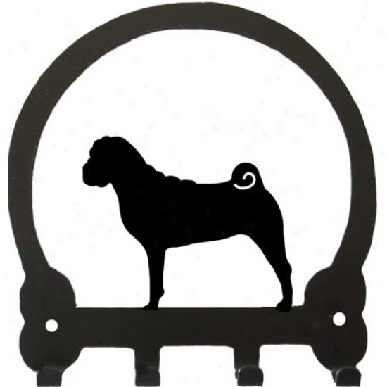 Chinese Shar Pei Key Rack By Sweeney Ridge