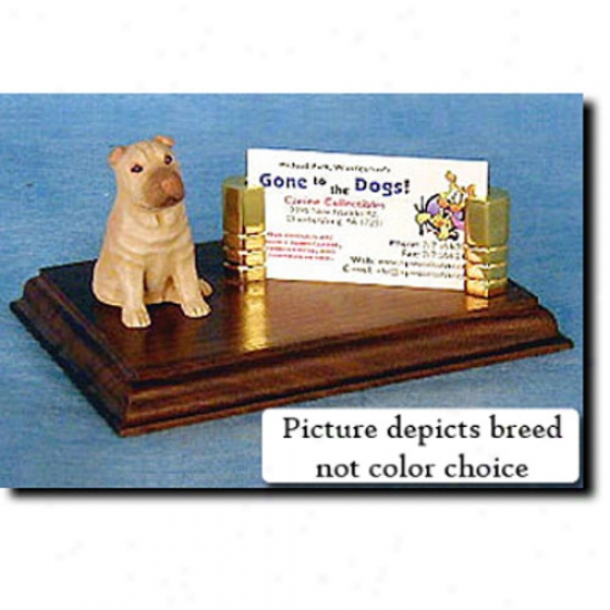 Chinese Shar-pei (re Fawn) Business Card Holder