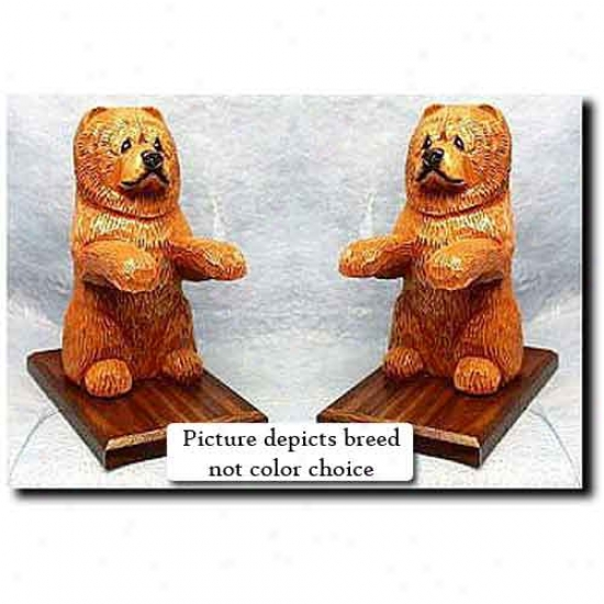 Chow Chow Bookends Black