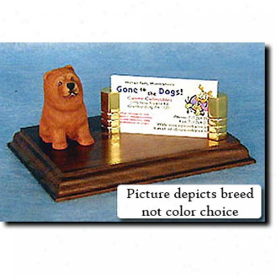 Chow Chow (red) Buxiness Card Holder