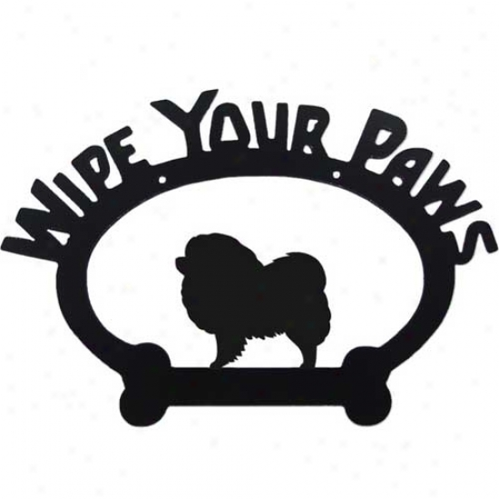 Chow Chow Wipe Your Paws Decorative Signal