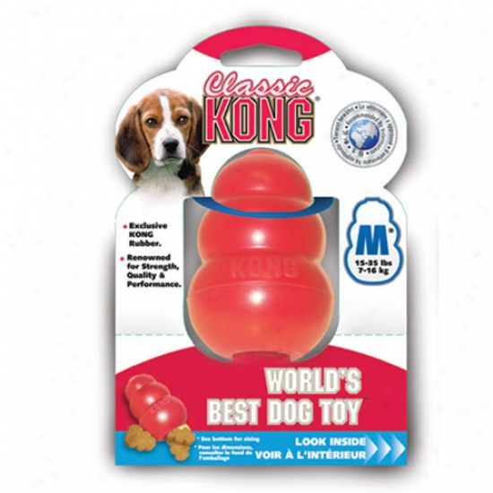 Classic Kong Rubber Dog Toy Medium
