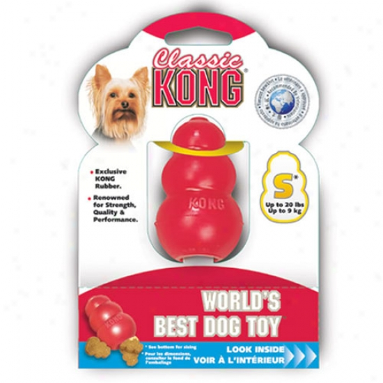 Classic Kong Rubber Dog Toy Small