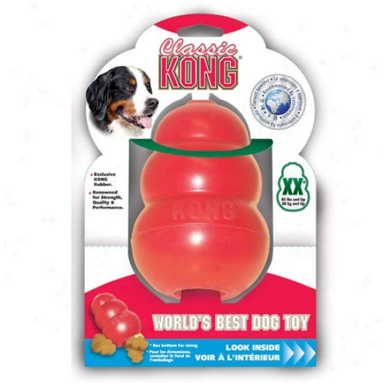 Classic Kong Rubber Dog Toy Xx-large King Kong