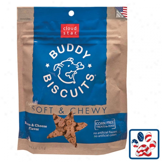 Cloudstar Soft And Chewy Buddy Biscuit Bacon And Cjeese 6oz