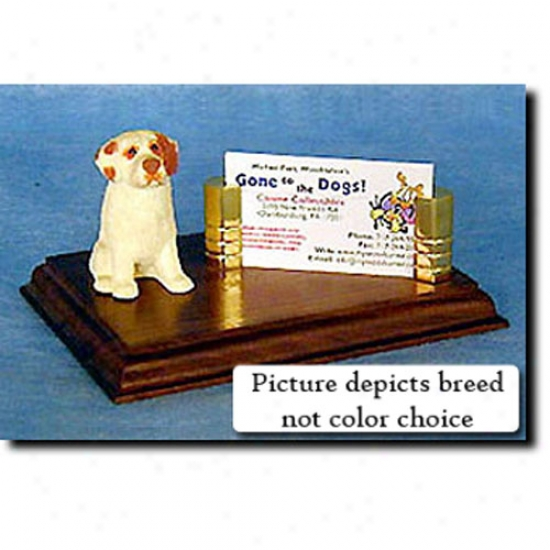 Clumber Spaniel (lemon) Business Card Holder
