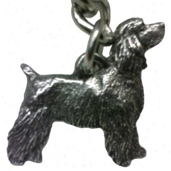 Cocker Spaniel - Disclose Clip - George Harris Pewter Keychain
