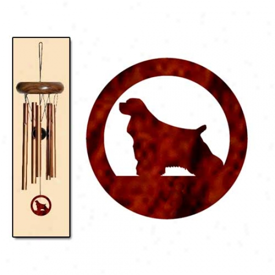 Cocker Spaniel Wind Chimes X-smwll Bronze