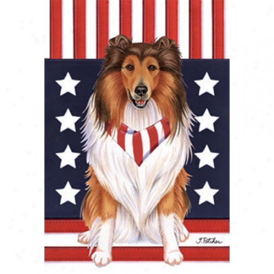 Collie Patriotic Breed Flag