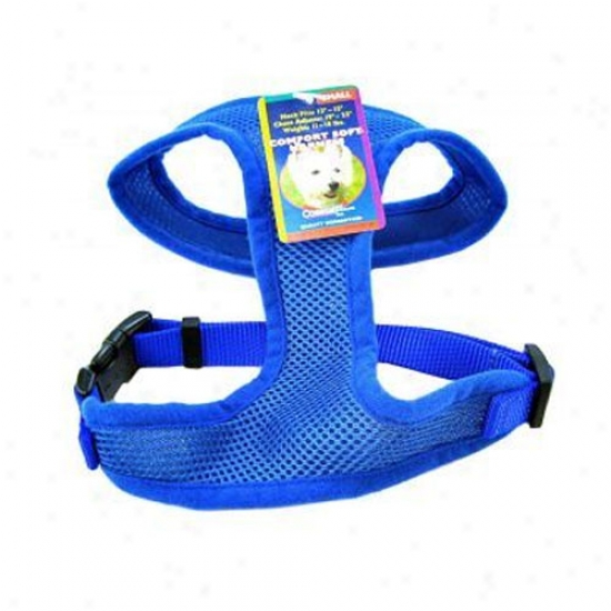 Comfort Soft Harneds 1in X Neck 15-17in X Girth 20-29in Blue