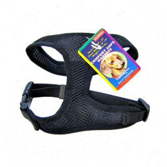 Comfort Soft Harness Three Eighths Inch Black Fkr Dogs 5-7lbs