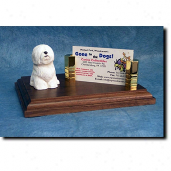 Coton De Tulear Business Card Holder