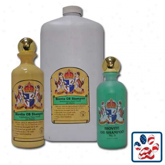 Crown Royale Biovite Fofmula 3 Shampoo 16oz Concentrate