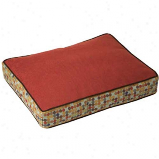 Crypton Molly B Rectangle Dog Bed Large Heringbone Cardinal