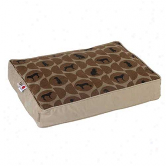 Crypton Wegman First-rate Rectangle Dog Bed Large Polka Dot Cork