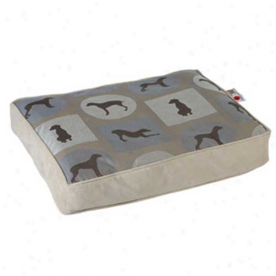 Crypton Wegman Classic Rectangle Dog Bed Medium Posey Moonlight