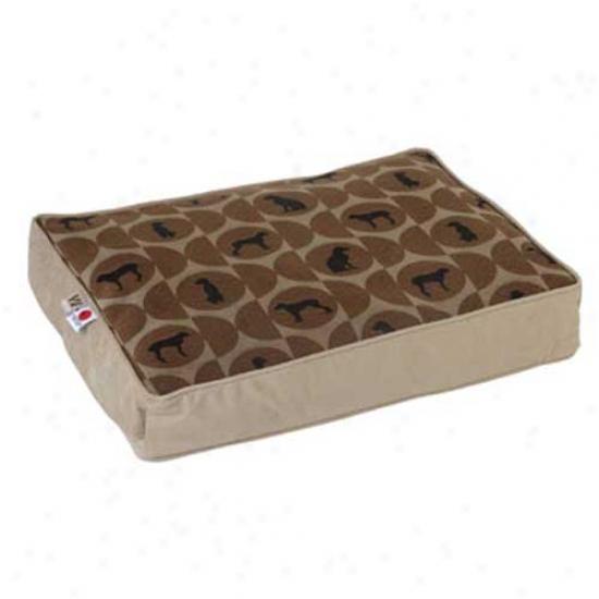 Crypton Wegman Classic Rectangle Dog Bed Small Polka Dot Cork
