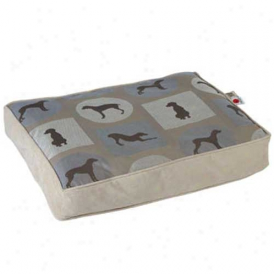 Crypton Wegman Classic Rectangle Dog Bed Small Posey Moonlight