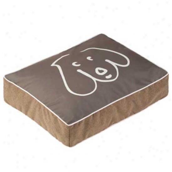 Crypton Wegman Doodle Dog Rectangle Dog Bed Medium Koala