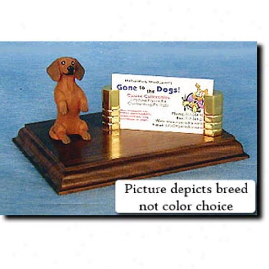 Dachshund (daplpe) Business Card Holder
