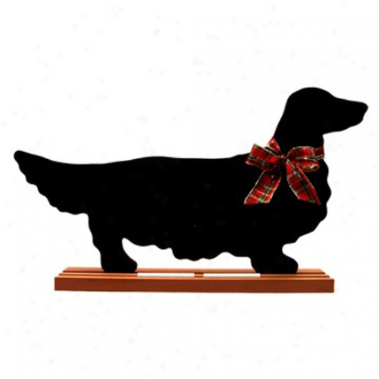 Dachshund (long-haired) Blackboard - Wall Model