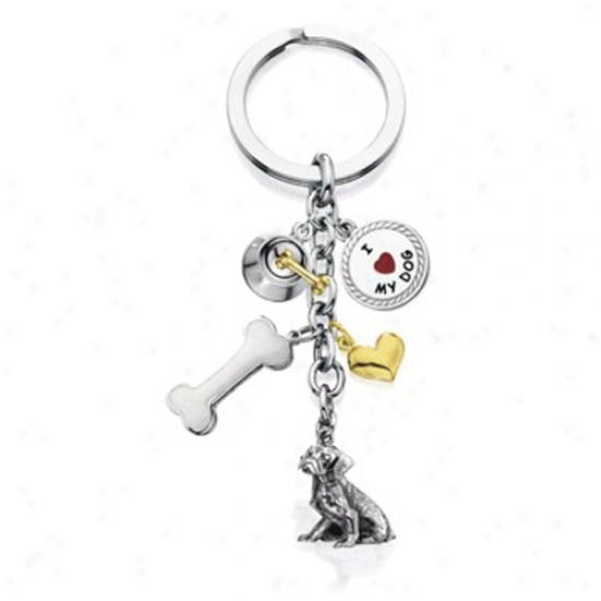 Dalmatian - I Love My Dog Keychain