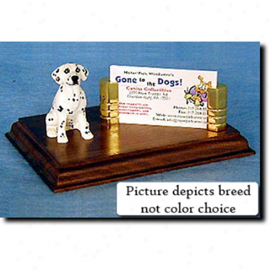 Dalmatian (liver) Business Card Holder