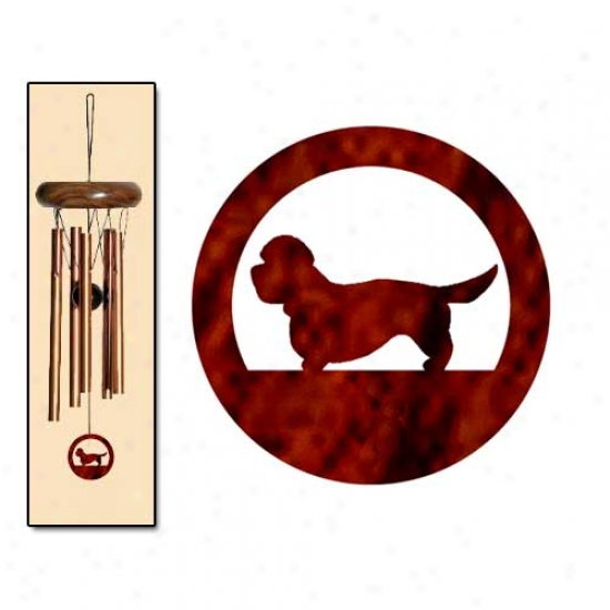 Dandie Dinmony Terrier Wind Chimes X-small Bronze