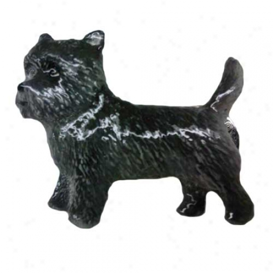 Dark Cairn Terrier Hand Painted Pin