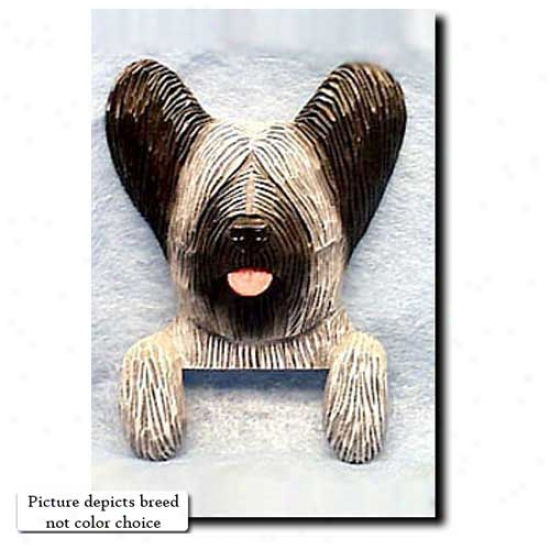 Dark Grey Skye Terrier Door Topper