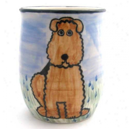 Deluxe Airedale Terrier Mug