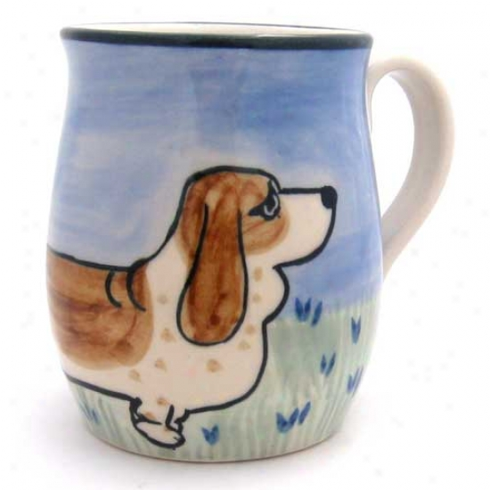 Deluxe Basset Hound Mug
