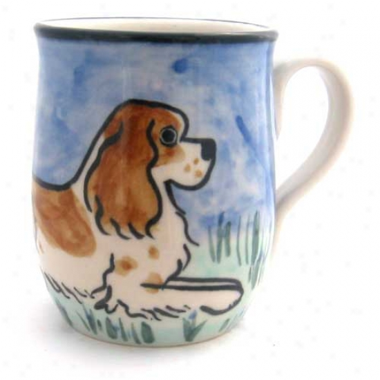 Deluxe Liver And Of a ~ color Springer Spaniel Mug
